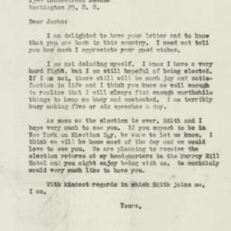 Letter: 1946 October 31