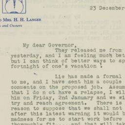 Letter : 1947 December 23