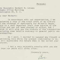Letter: 1954 February 19
