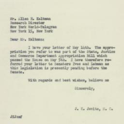 Letter : 1953 June 2