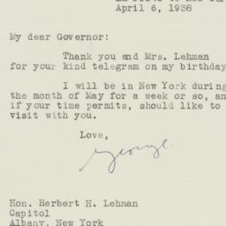 Letter : 1938 April 6