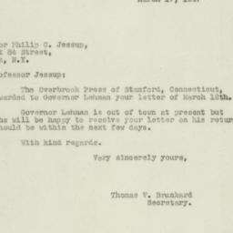 Letter: 1947 March 17