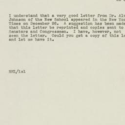 Letter : 1946 January 22
