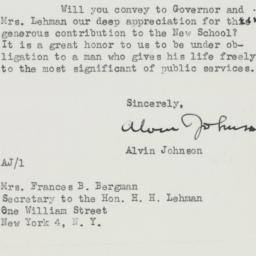 Letter : 1946 January 23