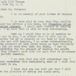 Letter : 1954 January 18