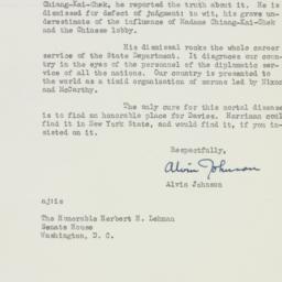 Letter : 1954 November 16