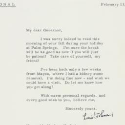 Letter : 1963 February 13