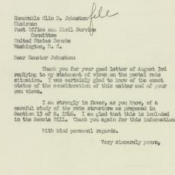 Letter : 1951 August 6