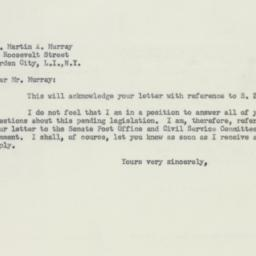 Letter : 1956 March 12
