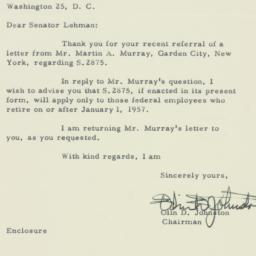 Letter : 1956 March 15