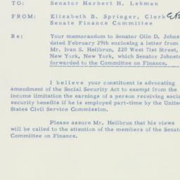 Memorandum : 1956 March 16