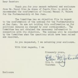 Letter : 1956 July 16