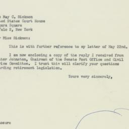 Letter : 1956 July 26