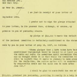 Letter : 1927 September 15
