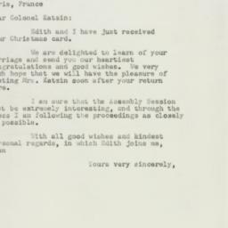 Letter : 1951 December 18