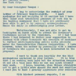 Letter : 1933 March 14
