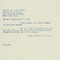 Letter : 1938 November 11
