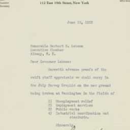 Letter : 1933 June 15