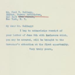 Letter : 1933 June 16