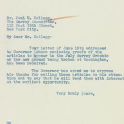Letter : 1933 June 19