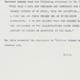 Memorandum : 1962 October 4