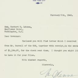 Letter : 1943 February 5