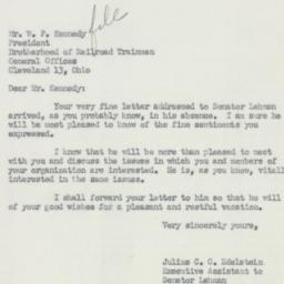 Letter : 1951 November 8