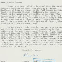 Letter: 1956 January 27