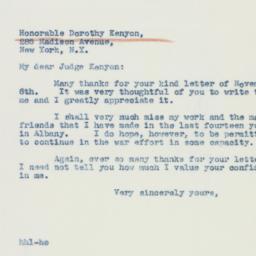 Letter : 1942 November 8