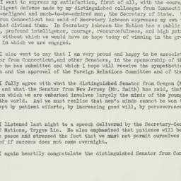 Speech: 1950 March 22