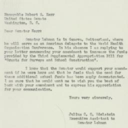 Letter : 1951 May 8