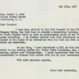 Letter : 1955 May 11