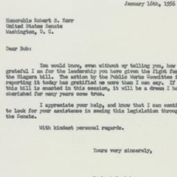 Letter : 1956 January 16