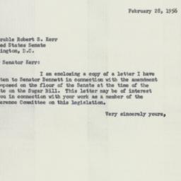 Letter : 1956 February 28