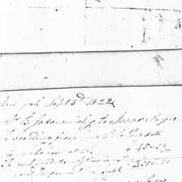 Document, 1822 n.d.