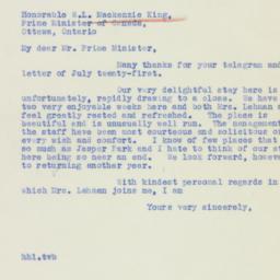 Letter : 1939 August 3