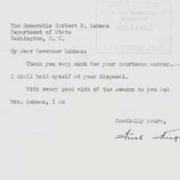 Letter: 1942 December 22