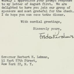 Letter: 1947 August 14