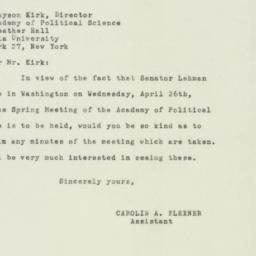 Letter: 1950 April 15