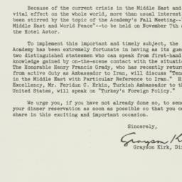 Letter: 1951 October 23