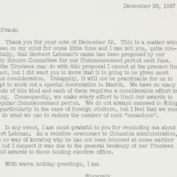 Letter : 1957 December 26