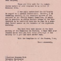 Letter: 1957 December 30