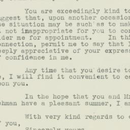 Letter: 1939 June 29