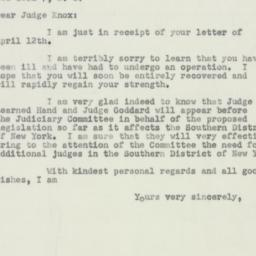 Letter: 1951 April 17