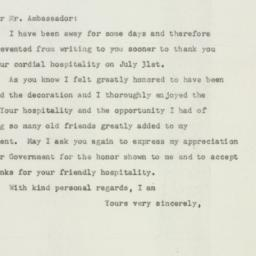 Letter : 1947 August 13