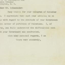 Letter : 1947 December 1