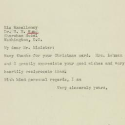 Letter : 1945 January 9