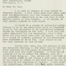 Letter : 1946 December 7
