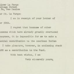 Letter : 1948 November 9
