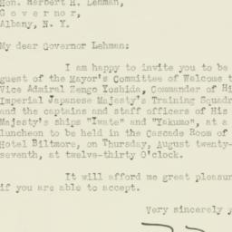 Letter : 1936 August 22